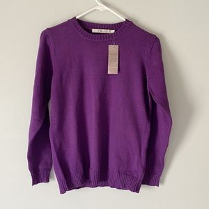 NWT Cozy Violet Colored Woman's Sweater From EWN